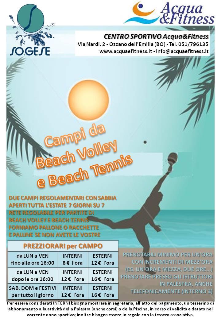 Beach volley e beach tennis acqua fitness - Piscina ozzano orari ...